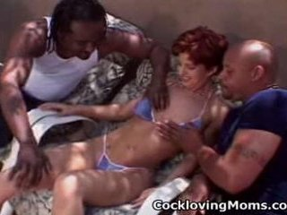 Naughty milf gets a nasty gang...