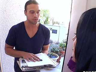 Wouldn't u want to be the door to door sales dude and acquiesce in across Mariah Milano?!?! That's exactly what happens in this episode of Mother I'd Like To Fuck Soup. The vixen that that babe is causes her to snatch the juvenile 20yr old sales fellow from her door step and drag him to her couch where that babe copulates the living sale out of him. This Babe tires easy with his rant about what ever that guy was selling and starts to engulf his knob right there in her living room. The 'paper guy' is as a result entranced with her this guy can't move and this babe pounces. Milfs are awesome!!! Have A Fun!